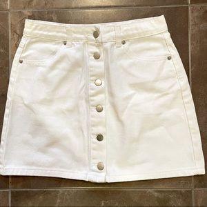 Forever 21 White Denim Skirt NWT